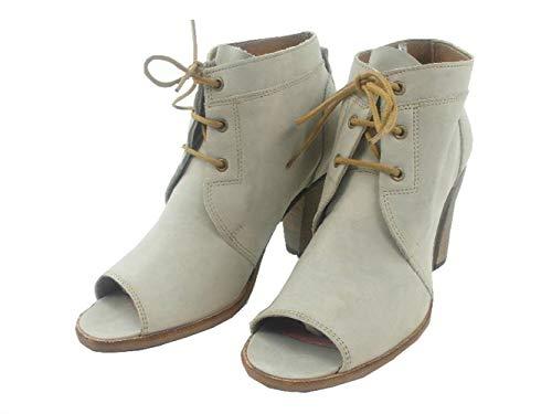 H by Hudson Ankle Boots Schuhe Sanford grau braun Leder Blockabsatz