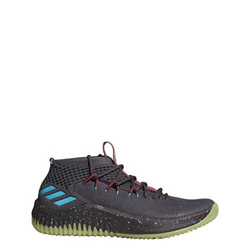 adidas Dame 4 Shoe - Men's Basketball 14 Utility Black/Energy Blue/Yellow