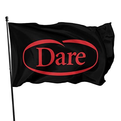 NOT BRAND ChenMingGao Home Decoration Dare Garden Flag Indoor Outdoor Flag 3x5 FT Taille Unique Noir