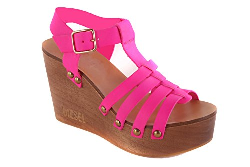Diesel Damen Sandalen Plateau Wedge Pumps Pink #18 (37)