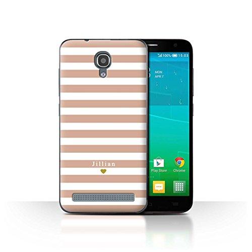 Stuff4Phone Case/Cover/Skin/alcidl2ms/Custom Stripes/Striped Collection Coeur Rose Nu