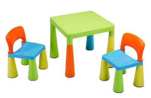 Liberty House Children's Table with 2 Chairs (Multi-Coloured)