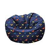 rucomfy Beanbags Dinosaur Kids Bean Bag Chair - Machine Washable - Two Safety Zips to Avoid Spillage (Medium (D60cm x H80cm))