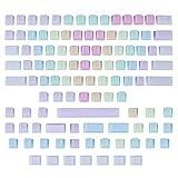 109 Pcs POM Jelly Keycaps Set for Mechanical Keyboard, Doubleshot Translucent OEM Profile Blank...