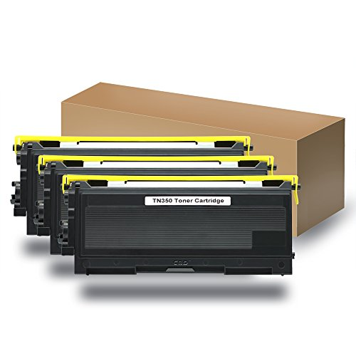 Compatible with Brother TN-350 Black Toner 3-Pack