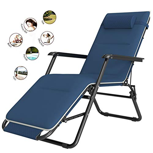 Lounge Chairs/Zero Gravity Chair Recliner Chair with Padded Cushion Headrest Folding for Outdoor use Camping, Beach, Reclining Sun Lounger, Deck Chair Lightweight Patio Furniture - Best for Camping /