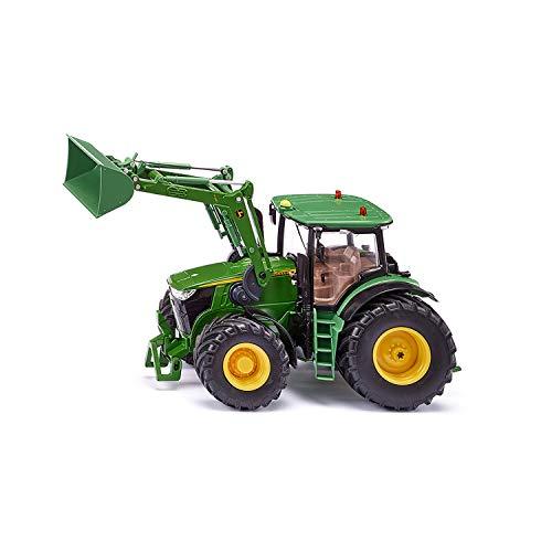siku 6792, John Deere 7310R Traktor mit Frontlader, Grün, Metall/Kunststoff, 1:32, Ferngesteuert, Steuerung mit App via Bluetooth, Ohne Fernsteuermodul