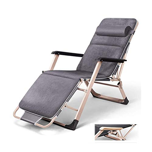 SBDLXY Folding Reclining Chair Folding Zero Gravity Sun Lounger Adjustable Adult Seat Garden Recline for Outdoor Patio Deck Lawn Camping Relaxing Armchair(