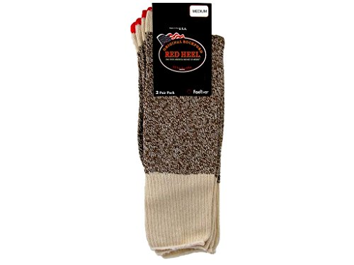 Fox River Original Rockford Red Heel Cotton Monkey Sock Brown Tweed Medium – 2 Stück