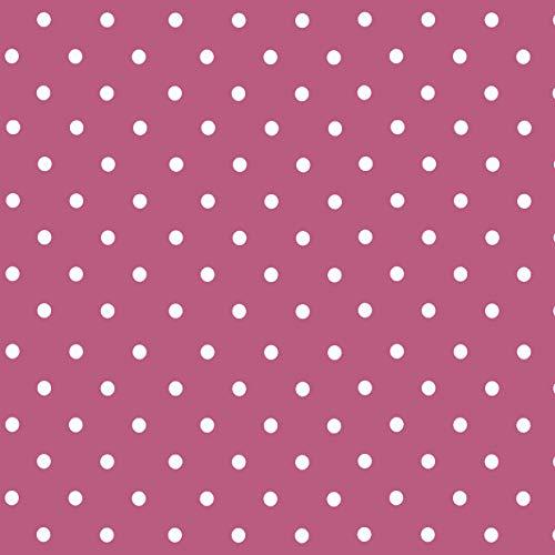 Venilia Klebefolie Tupfen Pink Motiv, Bastelfolie mit Punkten, Dekofolie Dots, Möbelfolie, Tapete, selbstklebende Folie, PVC, ohne Phthalate, 45cm x 1,5m, Stärke 0,095mm, 54704