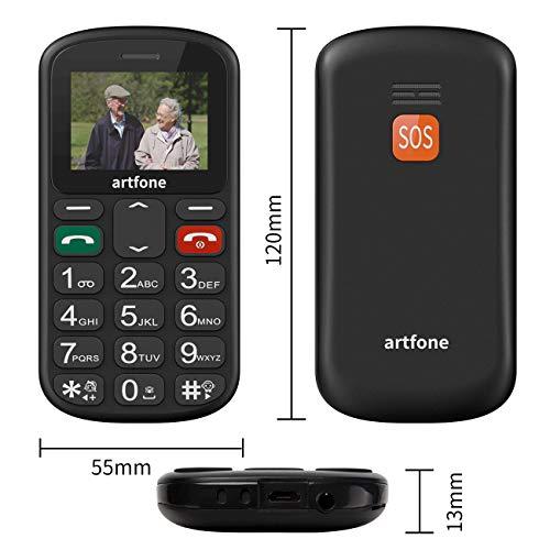 artfone Seniorenhandy ohne Vertrag   Dual SIM Handy mit Notruftaste   Rentner Handy große Tasten   GSM Handy   Großtastenhandy (CS181) - 5