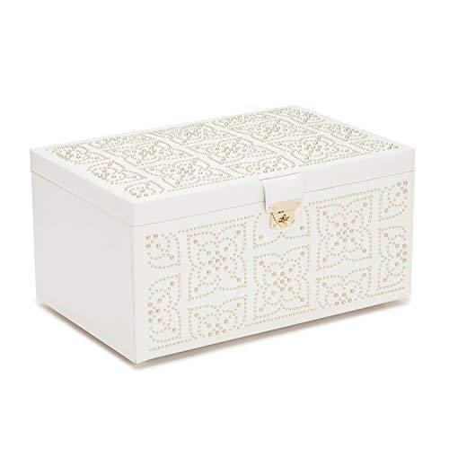 WOLF 308253 Marrakesh Large Jewelry Box, Cream