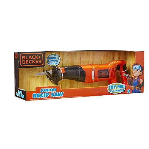 BLACK+DECKER Jr. Recip Saw Kids Outdoor Yard Play Tools