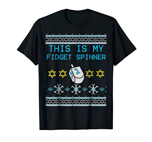 This Is My Fidget Spinner Dreidel Ugly Hanukkah Shirt