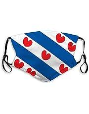 Mond Schild Verstelbare Anti Stof Gezicht Schild Vlag van Friesland Van Nederland Half Gezicht Shield