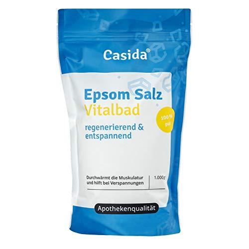 Epsom Salz Vitalbad - Magnesium zum Baden - 1000 g - Original Epsom Salz - Ideal für Voll- und Fußbäder - Epsom Salz aus der Apotheke