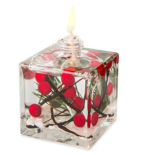 Berries Cube Oil Candle - Red