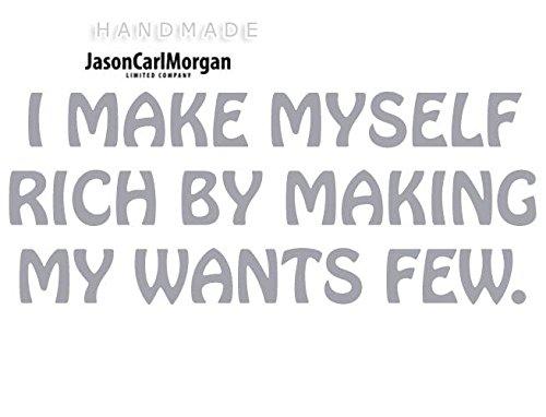 JCM I Make Myself riche Sticker mural Art mural Sticker mural en vinyle citation, SLV
