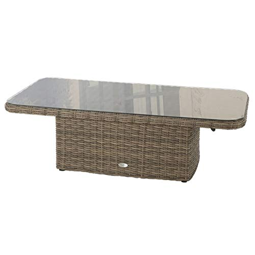 Hespéride Table relevable rectangulaire Moorea Naturae