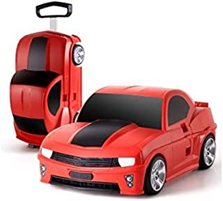 New Ride On Suitcase Toy Box Luggage Trolley Car Bag Box Case for Children Kids - Red