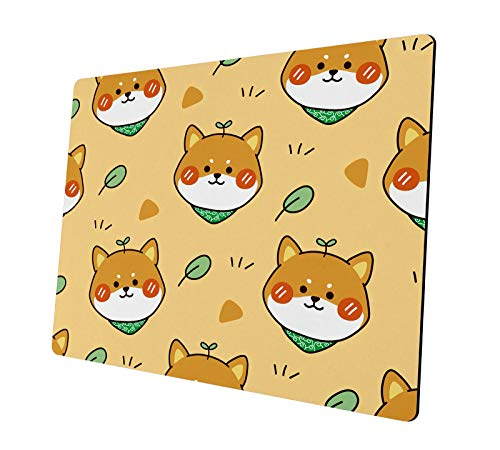 Gaming Mouse Pad, Cute Animals Dog Non-Slip Rubber Mouse Pads Personalized Design Mousepad, for Computers Laptop, Gaming,Office,Home(Yellow)