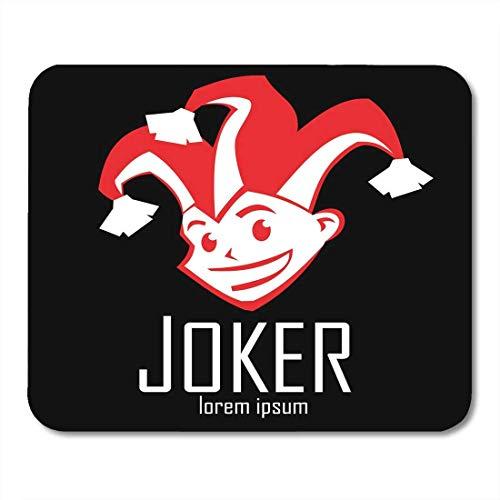 Mauspads Jester Cartoon Red Joker mit Sly Look und Smile Clown im Hut mit Glocken Harlekin Blackjack Mouse Pad für Notebooks, Desktop-Computer Mausmatten, Büromaterial
