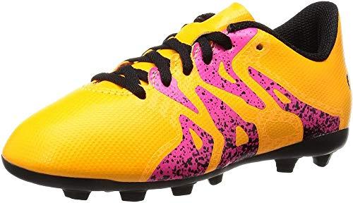 adidas Unisex-Kinder X 15.4 FG Junior Fußballschuhe, Orange (Solar Gold/Core Schwarz/Shock Pink), 35.5 EU