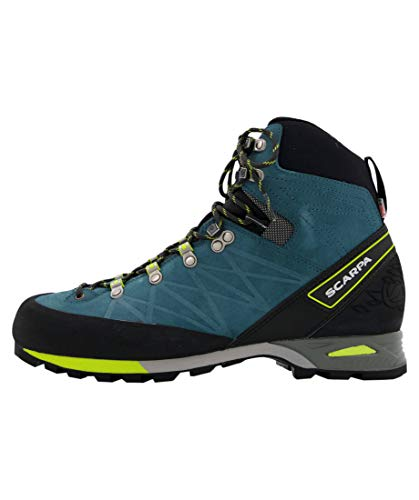 Scarpa MARMOLADA Pro HD, Chaussures de Randonnée Hautes Homme, Lake Blue-Lime Hdry Bag Drumlin, 46.5 EU