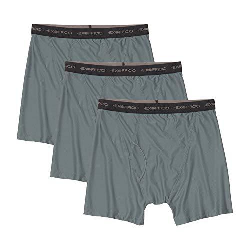 ExOfficio Give-N-Go Mens Boxer Briefs Underwear 3-Pack, Medium