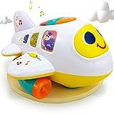 Il mio primo aereo 12 mesi + giocattolo intelligente aereo giocattolo musica/luce/suono per bambini e bambini ragazzi e ragazze