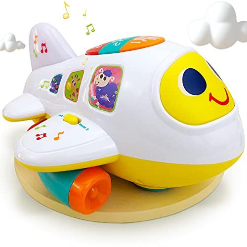 My First Airplane 12 meses + juguete de bebé avión de inteligencia juguete música/luz/sonido para niños y niñas