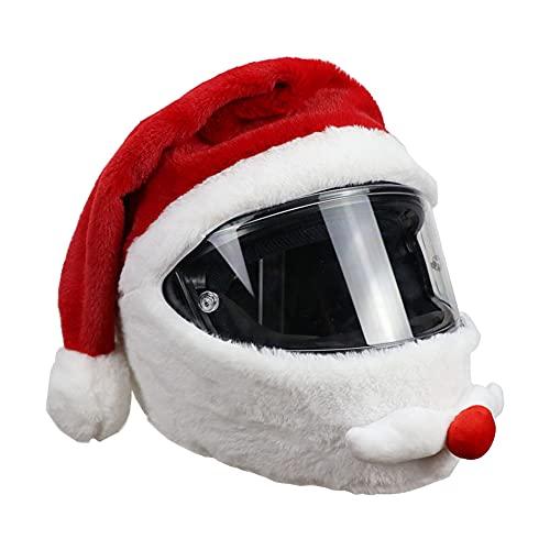 Housse De Casque De Moto Père Noël Moto Drôle Cas Fou pour Extérieur Personnalisé Housse De Casque Complet Cadeau De Noël De Noël
