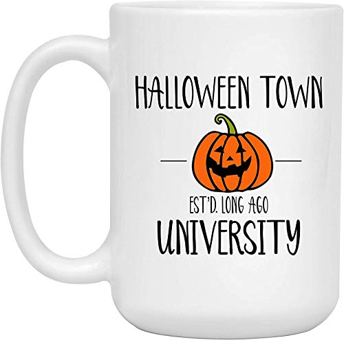 Halloween Town Est'd Long Ago University Halloween Coffee Mug, Halloween Town Pumpkin Coffee Cup Ceramic Mug,15oz