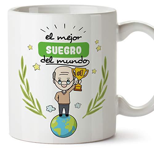 MUGFFINS Taza Suegro -Familiares Mundo -Regalos Originales y Divertidos -Tazas de Café y Té