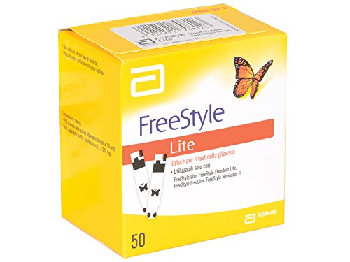 Abbott 23945 Freestyle Strisce Glucosio, Lite, Confezione da 50