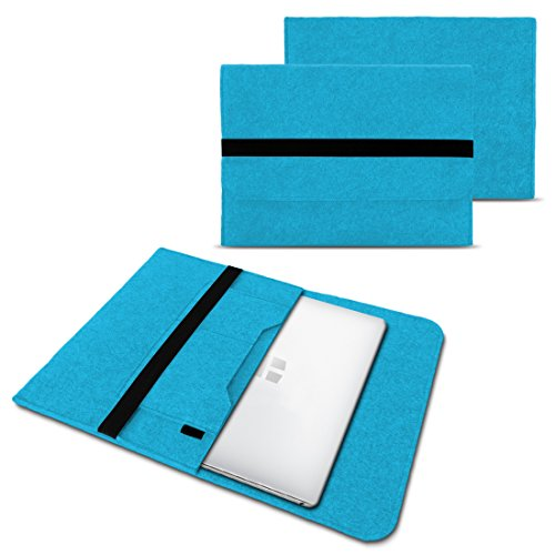 NAUC Laptoptasche Sleeve Schutztasche Hülle für Trekstor Surfbook W1 W2 Netbook Ultrabook 14,1 Zoll Laptop Filz Hülle, Farben:Türkis