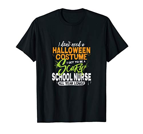 Funny Scary School Nurse Halloween Costume T-Shirt