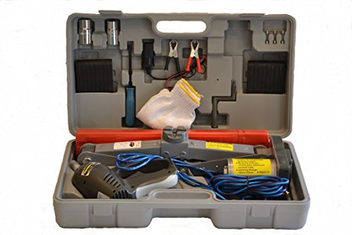 3 Ton Electric Scissor Jack 12v w/Impact Wrench 12v - Flat Tire Changing Kit (Everything Included as seen)