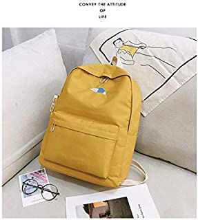 WTYD Double Shoulder Bag Boys and Girls Backpack Students Bag with Small Bag (Color : Yellow)
