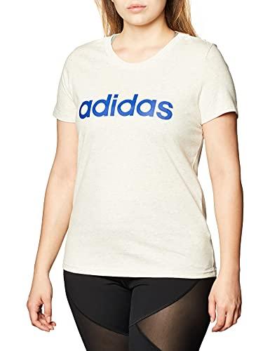 adidas W E Lin Slim T Camiseta, Mujer, orgrme/azurea, M