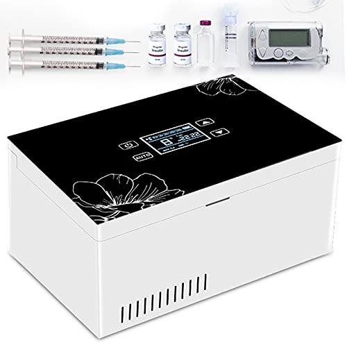 YNITJH Neveras De Insulina Eléctrico,Mini refrigerador de medicamentos y refrigerador de insulina para automóvil, Refrigerador USB con Batería,para Viajes Almacenamiento de medicamentos,2Battery