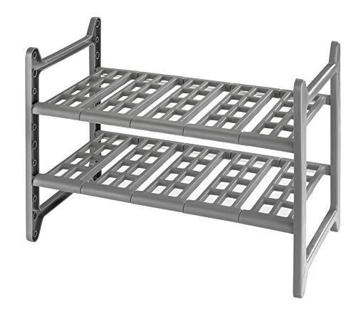 Wenko 2768010100 - Estantería para armario de fregadero (distribución ajustable, 44-82 x 39 x 28 cm), aluminio y plástico