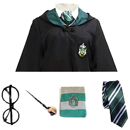 DS Potter Kostüm Cosplay Gryffindor Ravenclaw Hufflepuff Slytherin Robe Umhang Krawatte Schal Zauberstab Christamas Halloween Cosplay