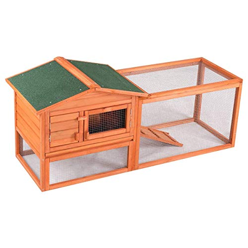 "Confidence Pet 62"" Rabbit Hutch/Chicken Coop, Brown"