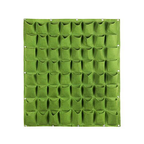 TTFLY Bolsa para plantar en la pared, con múltiples bolsillos, para plantar flores verticales, para jardín