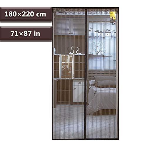 Individuellement raccourcissable et Installation Simple gr/âce /à des Bandes adh/ésives Easy Life Rideau moustiquaire magn/étique pour Porte 100 x 210 cm en Anthracite