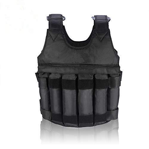 DEWIN Giacchetto Zavorrato - Giacchetto Zavorrato 20 kg Carico massimo regolabile Gilet / giacca da allenamento con peso di 20 kg