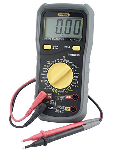 General Tools DMM53FSG Heavy-Duty Digital Service Multimeter with Microamp Ranges & K Port for Temperature