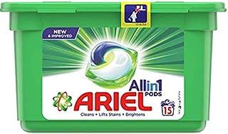 Ariel All in 1 Pods, Washing Liquid Capsules Original Scent, 15 Count.