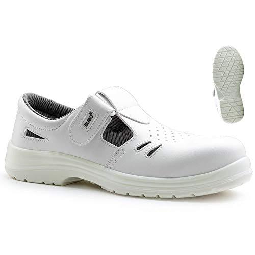 COVERGUARD – Bubo Sandale S1 SRC – Zapato de seguridad blanco/gris – 247-9BUBO